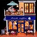 Ирландия Деревянные Миниатюре Кукольный Дом с Мебелью, Новый Творческий Ручной 3D Миниатюрный Кукольный Дом Игрушки для Детей