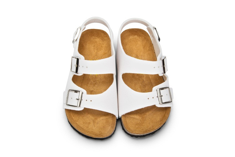 Xiaying Smile Brand Arizona Kids Flat Sandals Youth Casual Shoes Children Buckle Beach Summer Genuine Leather