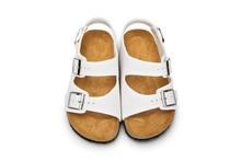 Xiaying улыбка бренд Arizona Дети плоские сандалии Молодежная повседневная обувь детей пряжки летние пляжные Шлепанцы из натуральной кожи для мальчиков и девочек