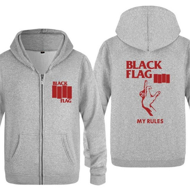 Mens Hoodies Rock Black Flag Printed Hoodie Men Hip Hop Jackets and Coat Skate Fleece Long Sleeve Men's Sweatshirt Tracksuit