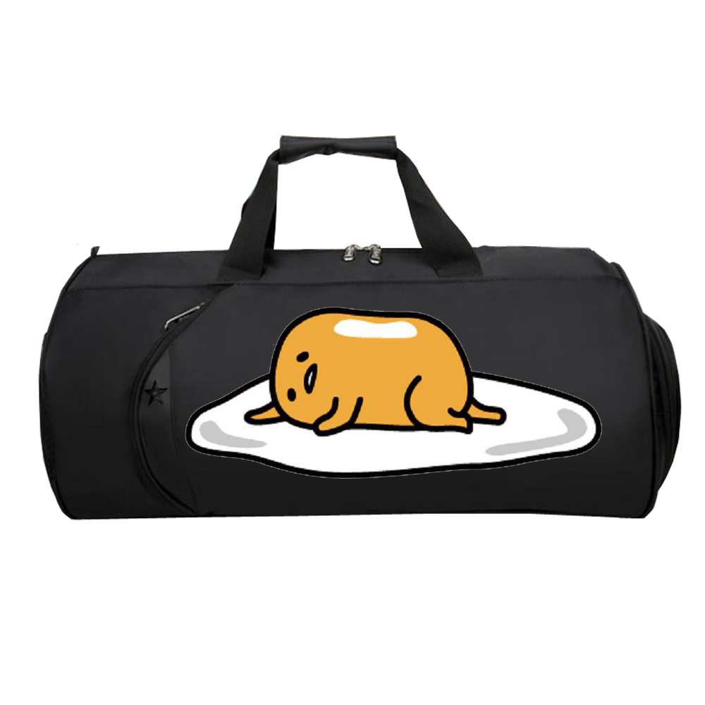 Shoulder-Bag Gudetama Duffel Travel-Package Women Luggage Large-Capacity Strap Anime