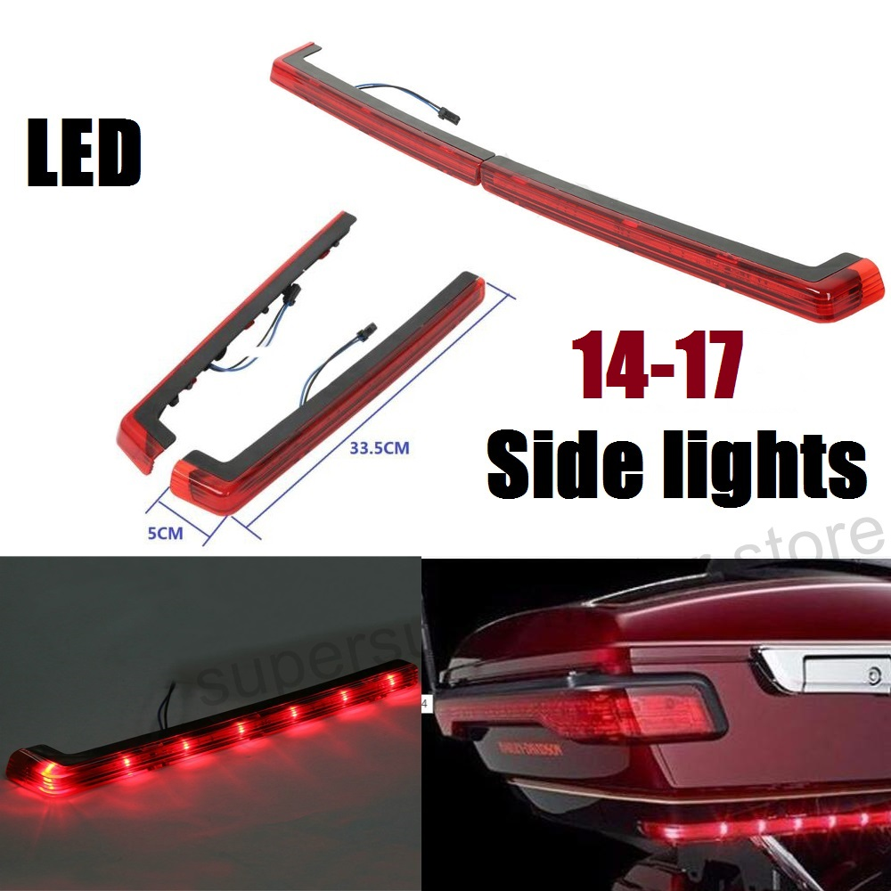 RED Tour Pack Side Marker Lights LED LIGHTS For Harley Touring Road King Street Glide Electra 14-17 рюкзак deuter daypacks gigant bay dresscode б р uni