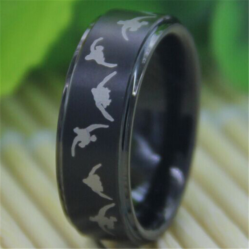 Free Shipping Top Quality Hot Sales 8MM Matte Top Black Step The