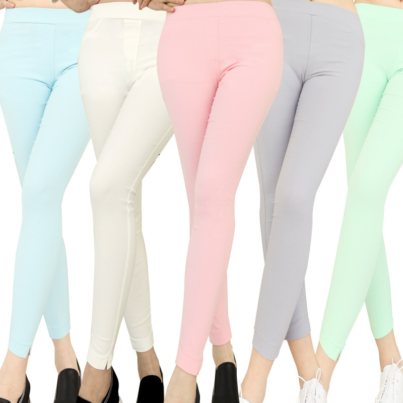 Ms spring external wear cultivate one s morality show thin pencil pants font b leggings b
