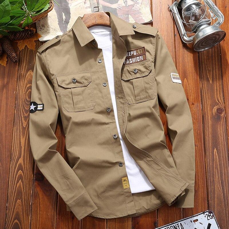 7ef2c55614 Venta caliente camisas para hombre brazalete viento militar hombres ...