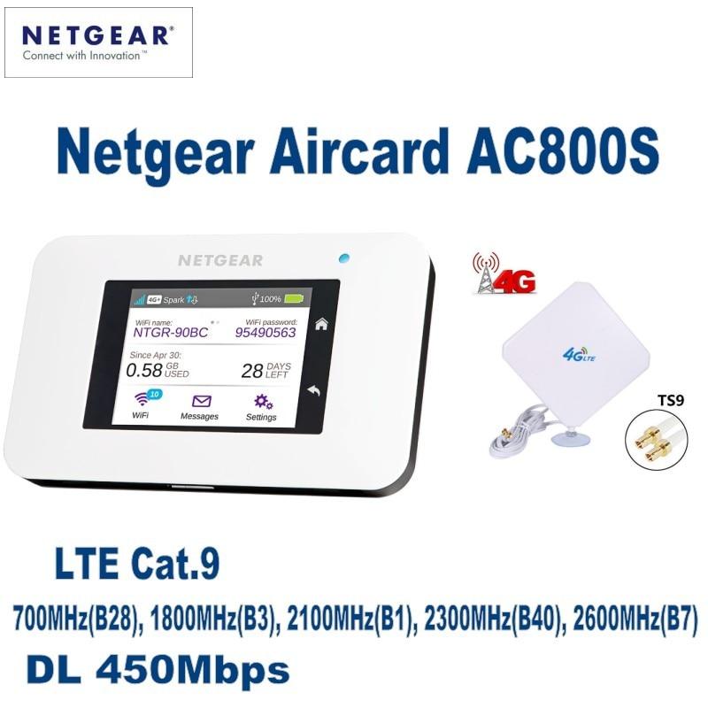 Netgear Aircard 800S (AC800S) LTE Cat.9 Мобильная точка доступа плюс с 4g внешней антенной