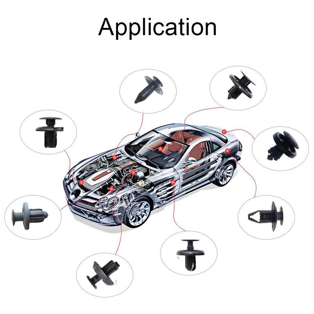 3pcs Retainer Remover Pry Puller Tool 100x Nylon Car Clips Push Rivet Fastener