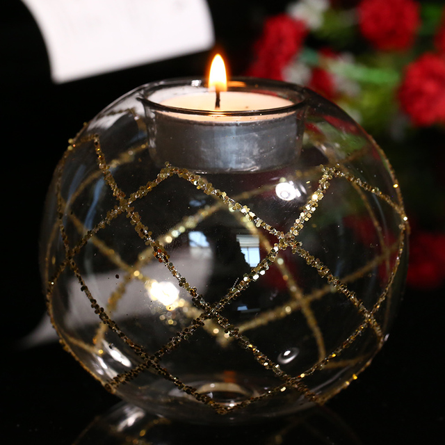 Tisch Glas Kerzenhalter Hochzeitsmittelstück Kerzenhalter Mit Gold