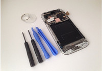 Super Amoled Original Quality LCD For Samsung Galaxy S4 I9500 I9505 LCD Touch Screen With Frame