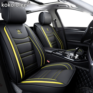 Image 3 - kokololee leather car seat cover For peugeot 206 3008 2008 307 507 508 kia cerato chevrolet orlando mitsubishi lancer car seats