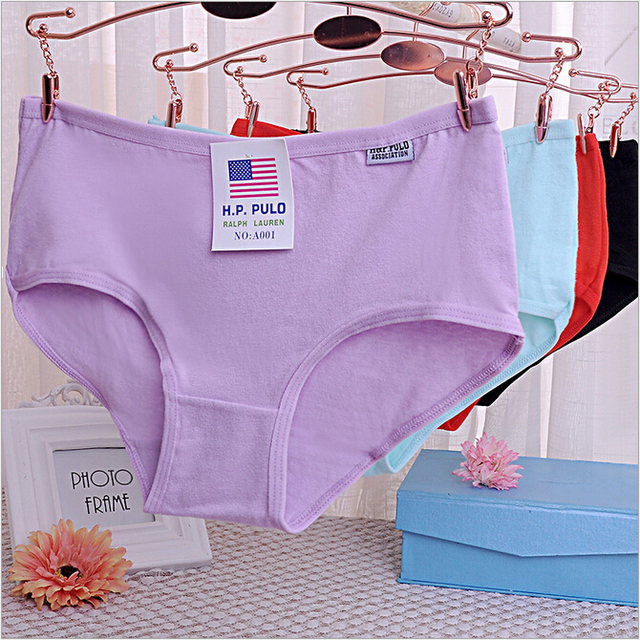 89ea8afd5941 Free Shipping New package mail A001 ladies underwear cotton girl with lower  cotton briefs candy colors #7136