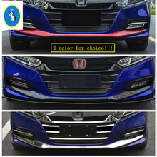 Yimaautotrims For Honda Accord 10th 2018 2019 ABS Auto Accessory Front Bottom Fog Lights Bumper Protection Plate Cover Trim