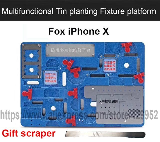 ic chip bga reball stenil soldering station holder for iphone x pcb rh aliexpress com
