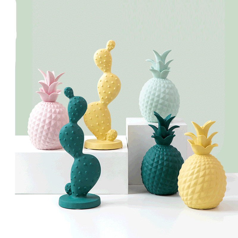 Pineapple Cactus Ceramic Statue 16