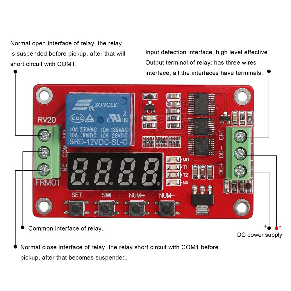 Self-lock Relay RV 2.0 A098  Cycle Timer Module PLC Home Automation Delay Time Switch ALI88 2pcs 1pcs om e2e x3d1 m1g 5pf7 plc automation plc module industry industrial use d