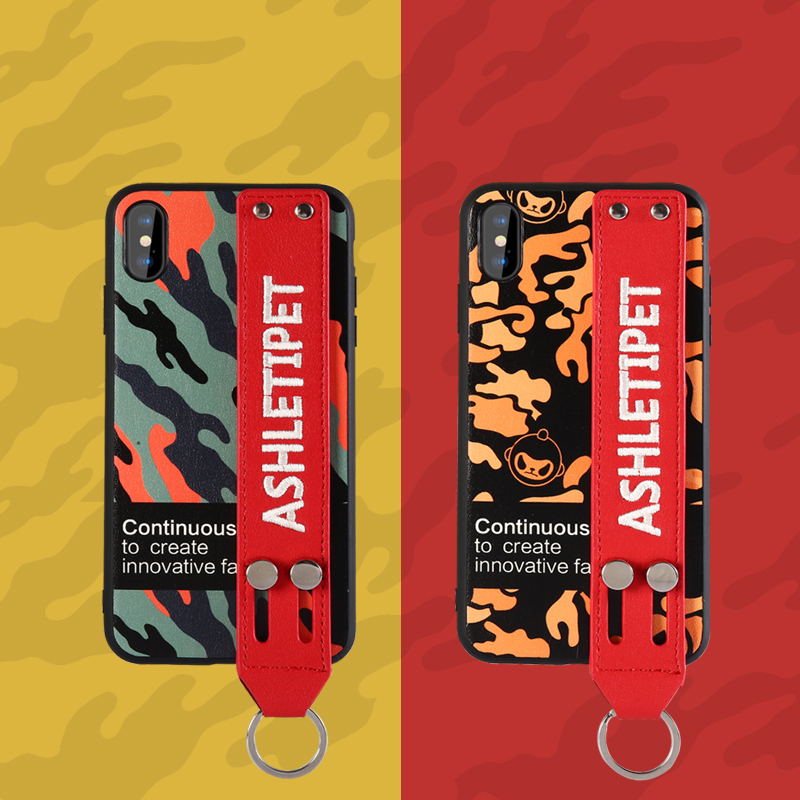 Leather wristband phone case for iPhone XS max XS 7 8 Fashion drop protection cover for iPhone XR X 7plus 8plus TPU soft shell in Fitted Cases from Cellphones Telecommunications