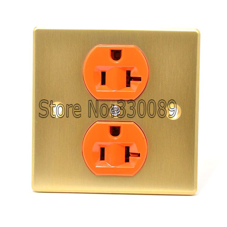 Free shipping One pieces Red Copper US AC 20A Power Receptacles wall outlet power distributor Socket 1pc timer delay relay delay turn on delay turn off switch module with timer dc 12v