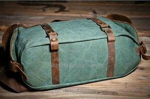 Image 5 - Unisex Retro New 2020 Canvas Leather women messenger bags  Men Crossbody Bag shoulder bag duffel bags Weekend  free shipping