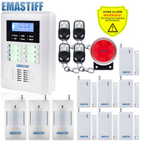 Free Shipping 101 Zone 99 Wireless Zone And 2 Wired Quad Band LCD Home Security PSTN