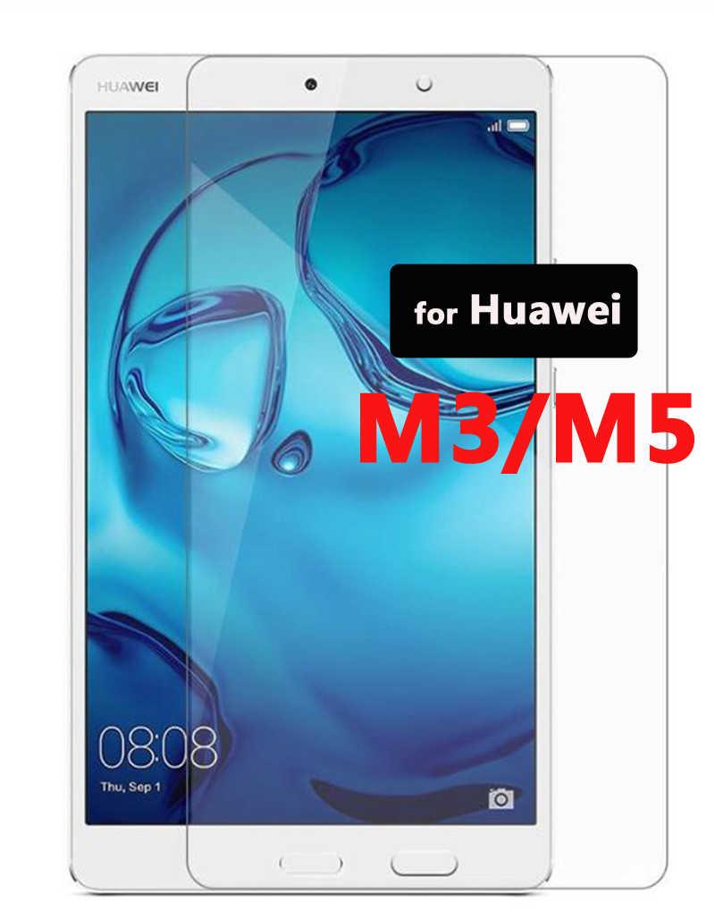 Temperli Tablet cam üzerinde Huawei Mediapad M3 M5 8.4 8.0 10.1 10.8 inç M 3 5 Pro Lite koruma Media Pad M3lite M5pro cam