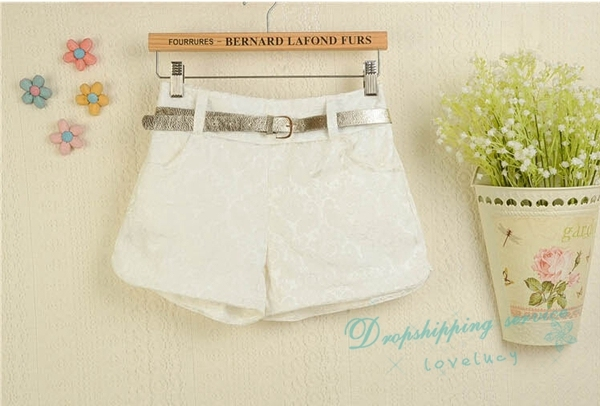 Summer New Jacquard Sweet Shorts Lace Elastic Waist Shorts Woman Hot Shorts Free Shipping