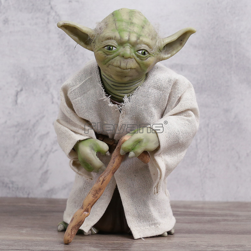 Star Wars Jedi Knight Yoda PVC Action Figure Collectible Model Toy 7 new hot star wars 7 the force awakens kylo ren pvc action figure collectible model toy 16cm