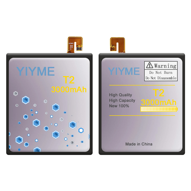 High Quality YIYME Factory Original Battery 3000 mAh for Sony Xperia T2 Ultra Dual D5322 D5316 LIS1554ERPC