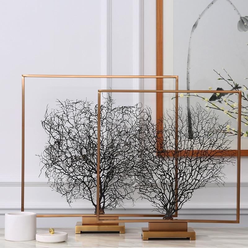 Новая классическая гостиная ТВ кабинет офисные аксессуары Увядшие ветви модель вход море дерево украшения украшение дома - 2