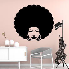Cartoon Africa woman Wall Sticker Pvc Removable For Baby Kids Rooms Decor Art Decal Living Room