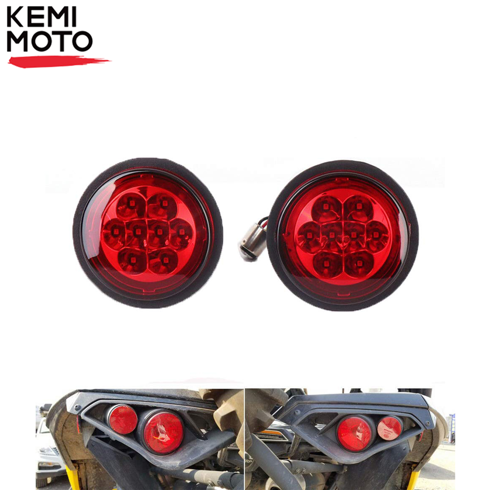 KEMiMOTO Rear Taillight Lens Turn Signal Light Cover For Can Am Outlander Renegade Commander 800R Maverick 1000 1000R 2011-2017