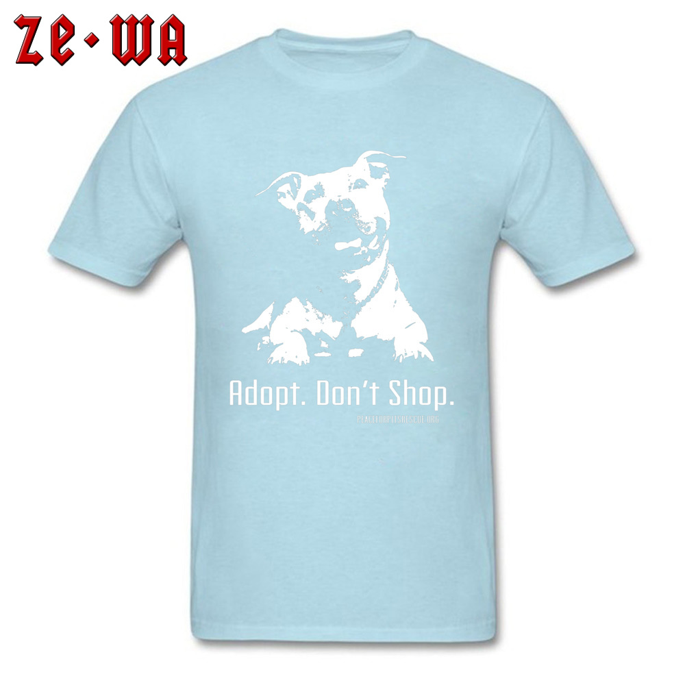 Casual New Coming Short Sleeve Design Top T-shirts 100% Cotton Crew Neck Men Tops Tees Geek Tees Father Day Wholesale Adopt Dont Shop P4P apparel -480 light