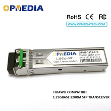 Free shipping!1000base-zx,1.25G 1550nm 120km SFP transceiver, optical module with DDM and LC connector,compatible with HuaWei