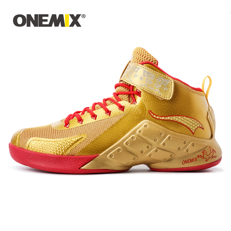 Onemix Basketball Shoes for Men Male Ankle Boots Anti slip outdoor Sport Sneakers Big Size EU