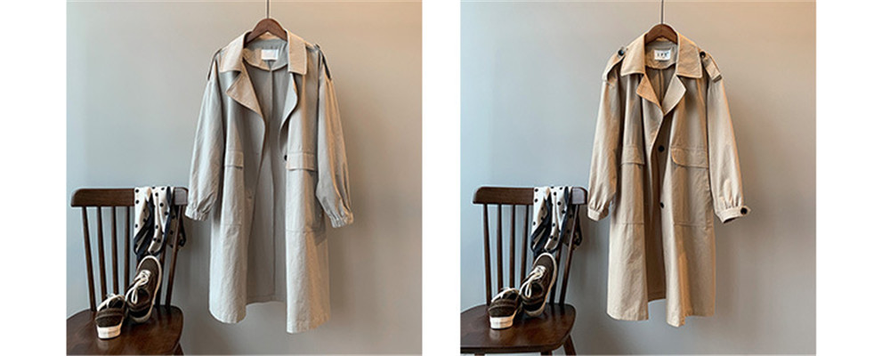 Vintage Cotton Women Coat 2019 Autumn Women's Casual Trench Coat oversize Single Breasted Washed Outwear Loose Clothing 68501 (2)