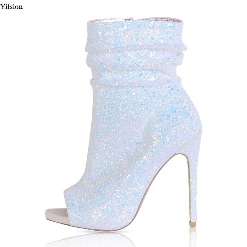 Olomm New Arrival Women Glitter Ankle