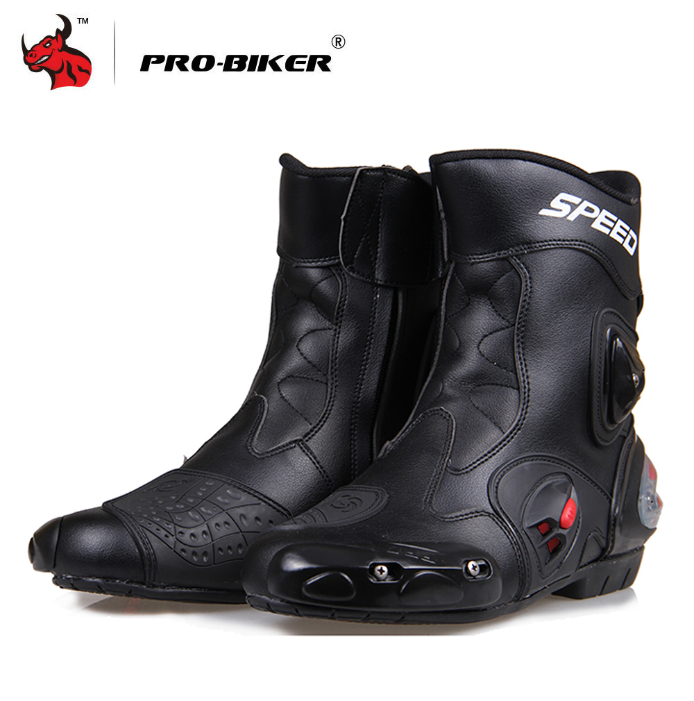 PRO-BIKER Motorcycle Boots PU  Leather Moto Shoes For Motorcycle Riding Racing Motocross Boots Motorbike BootsPRO-BIKER Motorcycle Boots PU  Leather Moto Shoes For Motorcycle Riding Racing Motocross Boots Motorbike Boots