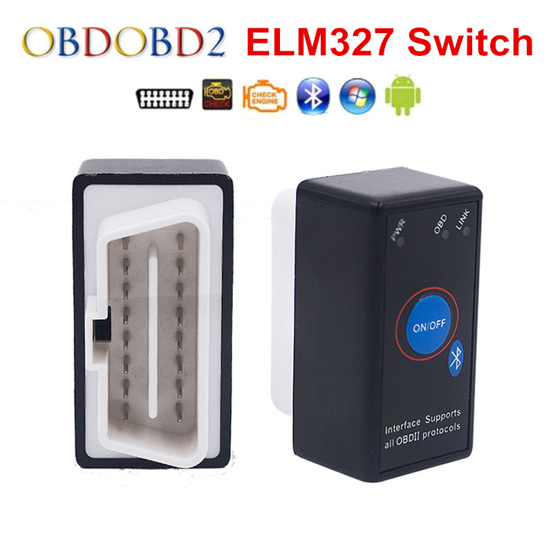 Super Mini ELM327 Bluetooth ELM 327 Power Switch V2 1 On Off Button OBD2 Car Diagnostic Innrech Market.com
