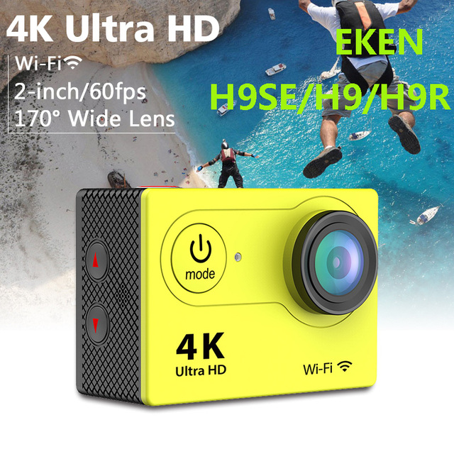 "H9R/H9/H9SE 4K Wifi Action Camera Full HD 1080P 2.0"" LCD 12MP 170 Wide Angle Lens Mini Camera with Remote Watch Waterproof"