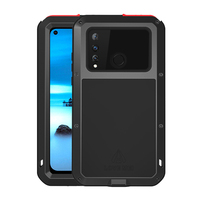 Full Body Protective Shockproof Case For Huawei Nova 4 Case Rugged Metal Heavy Duty Tempered glass Cover For Huawei Nova 4 Capa