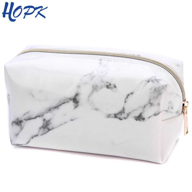 Marble Pencil Case Quality PU Leather School Supplies Stationery Girls Boy Gift Pencilcase Cute Pencil Box School Tools