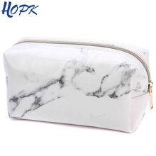Marble Pencil Case Quality PU Leather School Supplies Stationery Girls Boy Gift Pencilcase Cute Pencil Box School Tools nordic style marble pencil case for girls toiletry makeup storage supplies marble pattern bts pencil box pencil bag school tools