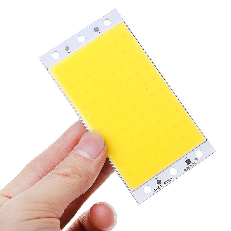 94x50mm COB Panel Light DC12-24V LED Strip Shape Lamp 15W High-brightness LED Light Board