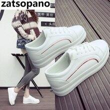 Zatsopano 2019 Fashion Canvas Shoes Women Vulcanization Shoes Brand Woman Breathable Casual Flats white Shoes Sneakers Women's недорого