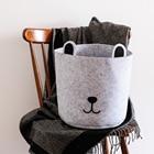 Nordic Style Felt Storage Baskets Creative Cartoon Cat/Dog Shape Laundry Baskets Toys/Sundries Neatening Baskets Home Decor