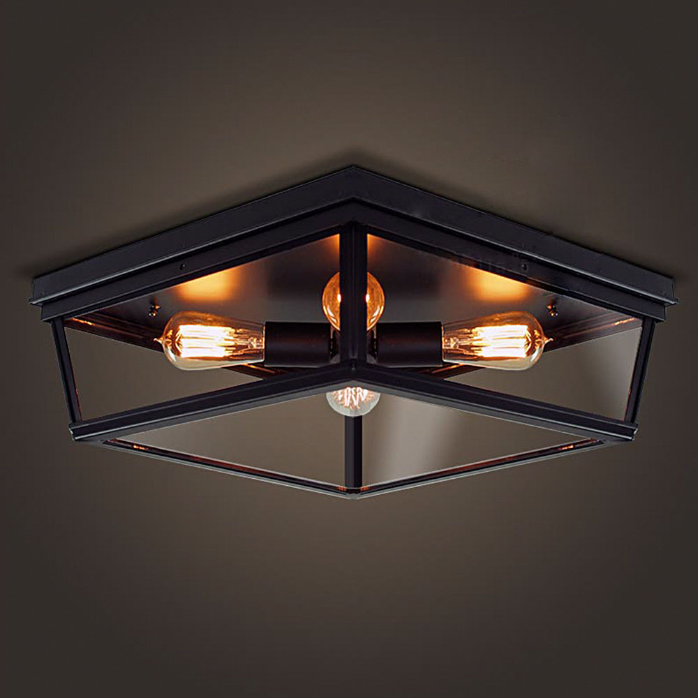Nordic retro led ceiling light lamp bedroom living room for Living room ceiling light fixture