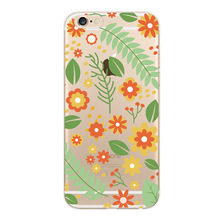 Applicable to iphone 6 7 8 x xr xmax painted sun flower flat transparent mobile phone case TPU soft shell