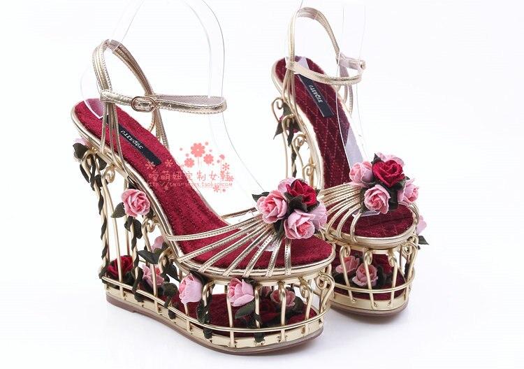 Frühling Sommer Neue Frauen Schuhe Mode Luxus Tie up Birdcage Hochzeit T gebunden Schuhe Hochwertige Angepasst Hohe schuhe mit hohen absätzen - 5