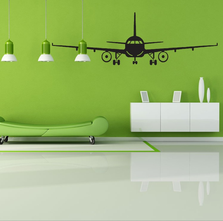 removable 3d airplane wall sticker house muraux art decor wall mural