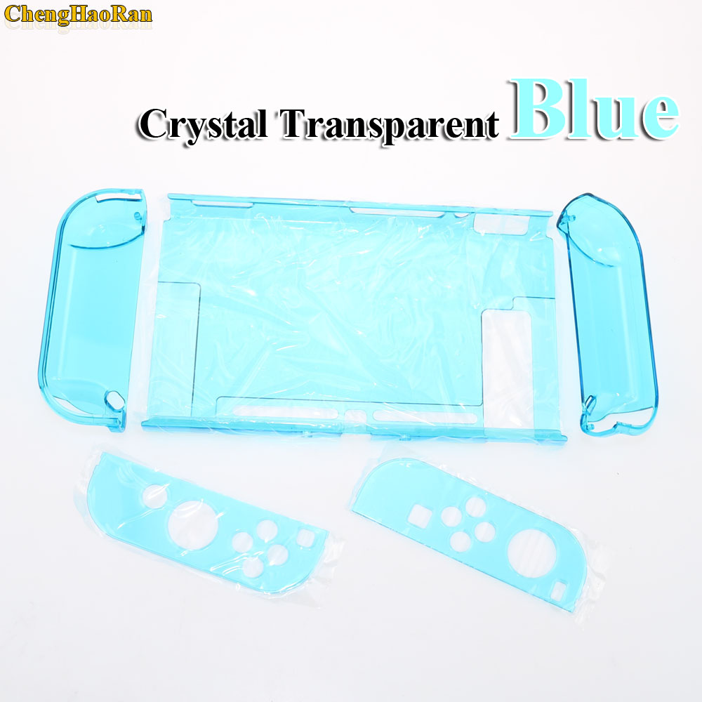 Image 2 - Hard PC Protection Cover For Nintend Switch NS NX Case Transparent Crystal Shell Console Controller Accessories With Stand Cases-in Replacement Parts & Accessories from Consumer Electronics