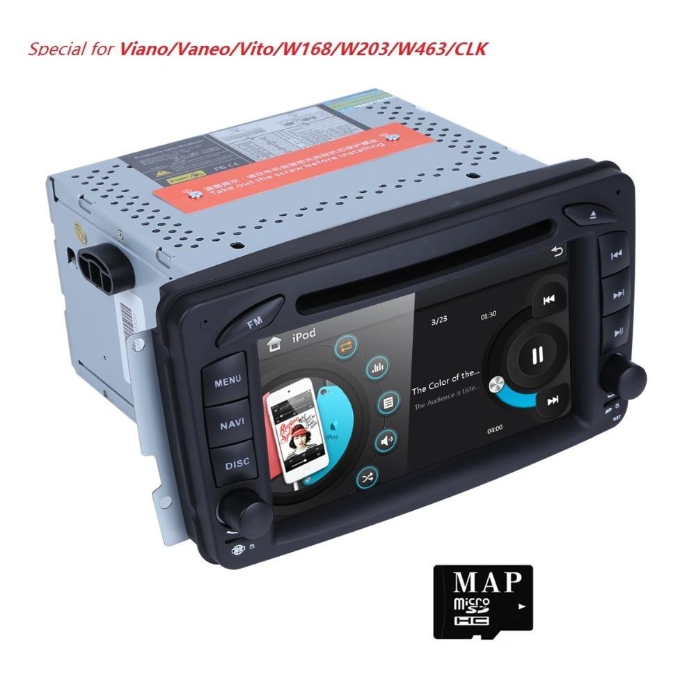 HD 7 Touch Screen Car DVD Player for Benz W203 W208 W209 W210 W463 Vito Viano Autoradio GPS Navigation MirrorLink